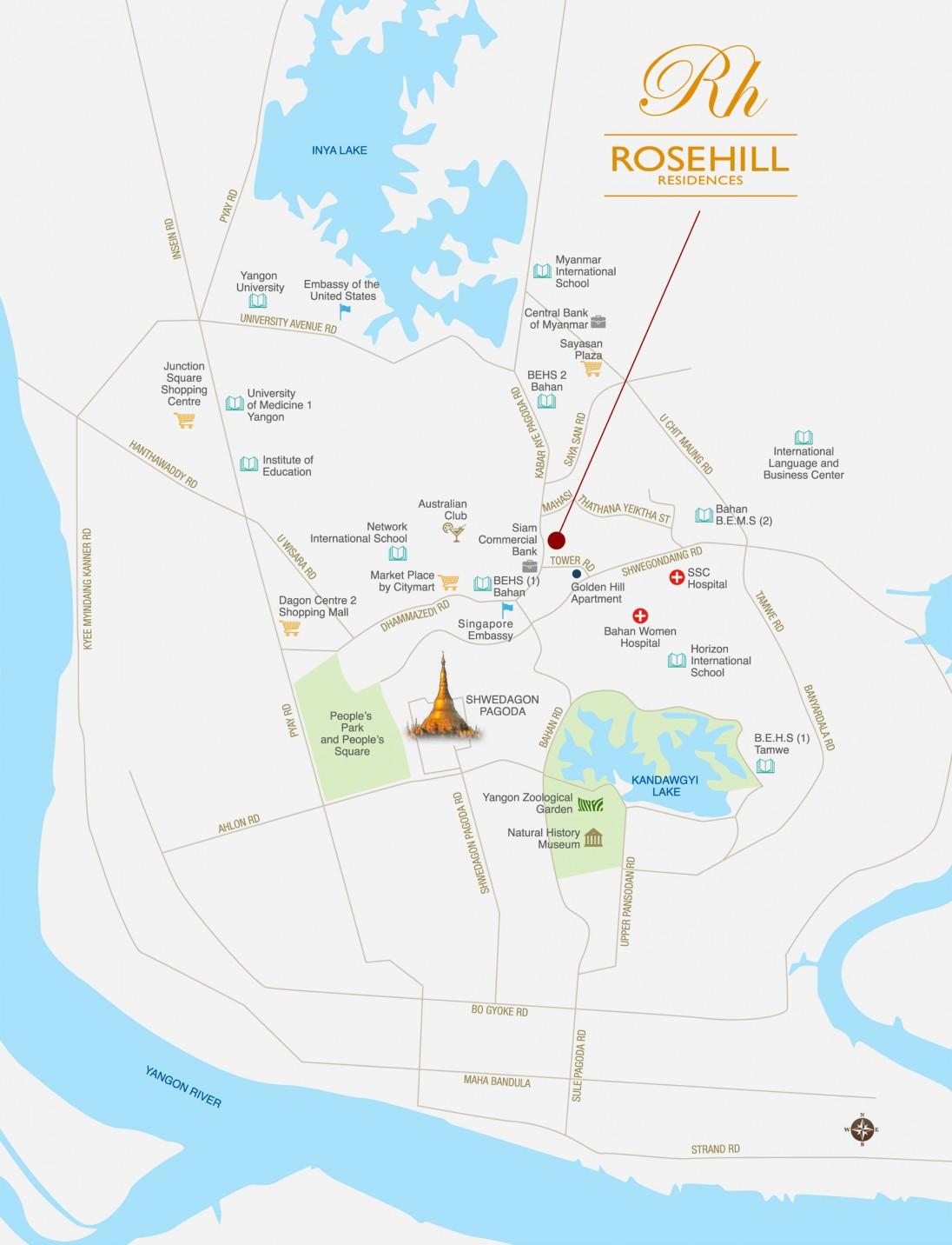 Rosehill Residences Location Map